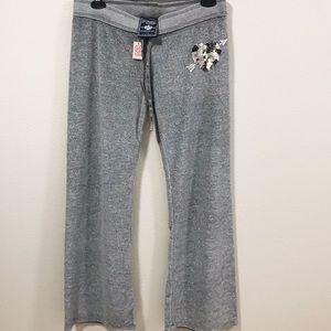 Victoria's Secret PINK Silver Sparkle Sweatpants